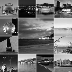 black and white montage